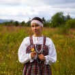 Girl in national dress — Stock Photo