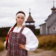 Stock Photo: Russigirl in national dress
