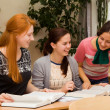 Stock Photo: Girls involved in college