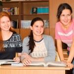 Schoolgirls high school — Stock Photo