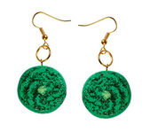 Earrings with sequins. galaxy — Stock Photo