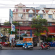 Foto Stock: Street in Patong. Thailand. Editorial only.