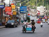 タイ。パトンの通り。のみの社説. — ストック写真