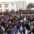 Protest rally in Kandalaksha against rising utility rates - Stock Photo