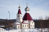 The new building of the Orthodox Church — Stock Photo