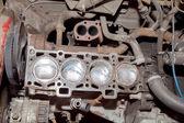 Motorn reparation den gamla bilen — Stockfoto
