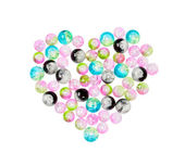 Set of beads for making jewelry heart-shaped — Stock Photo