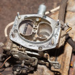 Stock Photo: Car's carburetor with cover removed