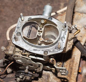 Car's carburetor with the cover removed — Stock Photo