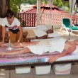 Stock Photo: Patong - April 26: Men get Thai massage. Thailand, Phuket, Pa