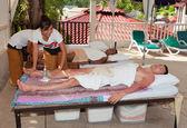 Patong - April 26: Men get a Thai massage. Thailand, Phuket, Pa — Stock Photo