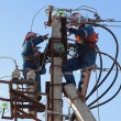 Electricians working at height — Stock Photo #43049231