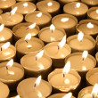 Candles tea lights — Stock Photo
