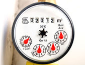 Water meter 2012 — Stock Photo