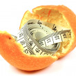 Fitness tangerine — Stock Photo