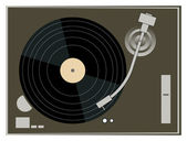 DJ Turntable Graphics — Stock Vector