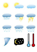 Meteorology signs — Stock Vector
