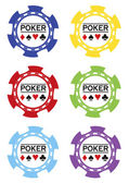 Poker chips vektor — Stock Vector