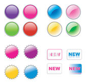 Buttons for web — Stock Vector