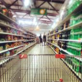 Colorful Supermarket — Stock Photo