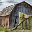 Old barn with page curl — Stock Photo #11501288