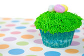 Easter eggs on cupcake — Stock Photo