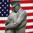 American Soldier statue — Stock Photo