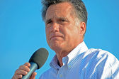 Mitt Romney giving a speech — Stock Photo