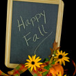 Autumn message on blackboard — Stock Photo