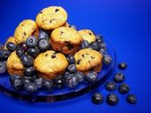 Blueberry muffins — Stok fotoğraf