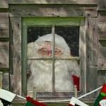 Santa With Stockings — Stock Photo #12433927