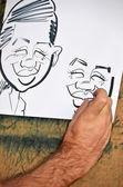 Cartoon caricature — Stock Photo