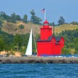 Stock Photo: Red Lighthouse