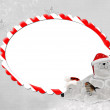 Christmas candy cane frame - Stock Photo