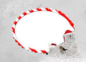 Christmas candy cane frame — Stock Photo