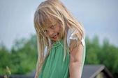 Shy little girl — Stock Photo