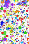 Colorful paint splatters — Stock Photo