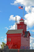 Red Lighthouse — Стоковое фото