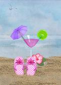 Beach cocktail — Stock Photo