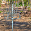 Frisbee golf cage — Stock Photo