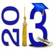 Stock Photo: Graduation for 2013