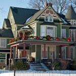 Victorian Christmas House — Stock Photo #13821880