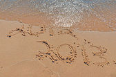 2013 New Year on the beach — Stock fotografie