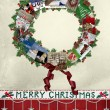 Christmas Card Wreath - Stock Photo