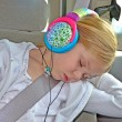 Child listening to headphones — Stock Photo #18030221