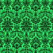 Damask design on green — Stock Photo #18403519