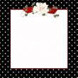 Black polka dot frame - Stock Photo