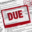 Due date on income tax form — Stock Photo #18913199