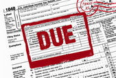 Due date on income tax form — Stock Photo