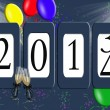 Stock Photo: 2014 New Year party odometer